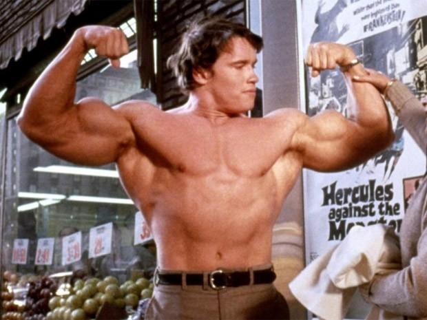 Arnold Schwarzenegger em 'Hercules in New York' (Foto: Divulgação)