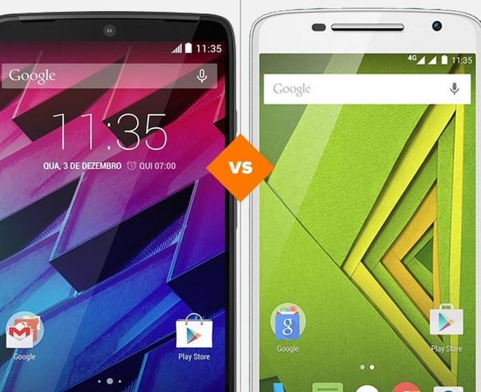 Qual smartphone da Motorola com foco na bateria se dá melhor no comparativo?  (Foto: Arte/TechTudo)
