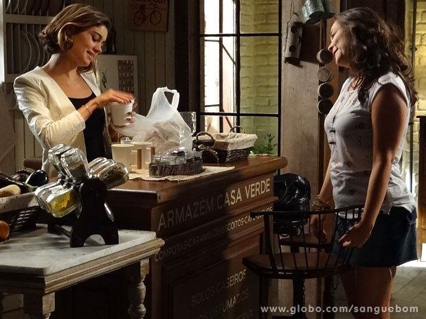 Amora aposta que vai fazer Bento se mudar da Casa Verde (Foto: Sangue Bom / TV Globo)