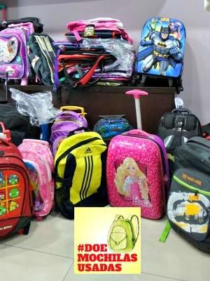 0a60b035b Mochilas podem ser doadas até o dia 6 de fevereiro (Foto: Arquivo Pessoal)