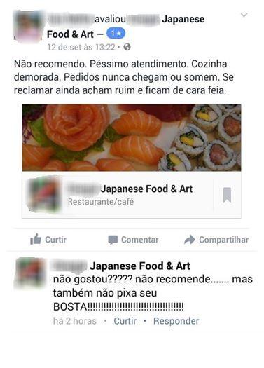 Página de restaurante respondeu cliente  (Foto: Reprodução)