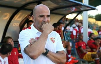 "Sampaoli diz que pretende ouvir o Sevilla, mas destaca ""direito de sair"""