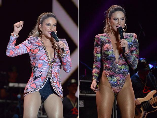 Claudia Leitte usou dois figurinos na noite em Salvador (Foto: Raphael Dias/Gshow)