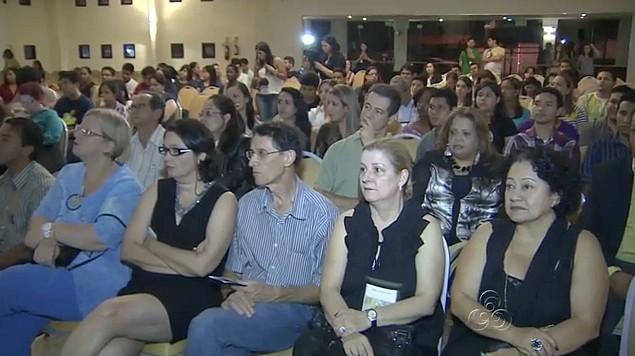 Cerimônia de abertura do 12º Intercom Norte, em Manaus (Foto: Bom dia Amazônia)