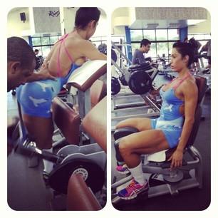 Uma das fotos publicadas por Gracyanne Barbosa na segunda-feira (18) (Foto: Reprodução/Instagram)