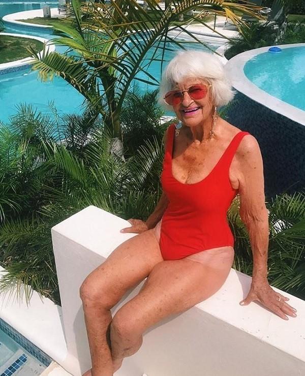 Baddie Winkle faz sucesso na internet aos seus 89 anos  (Foto: Reprodução Instagram)