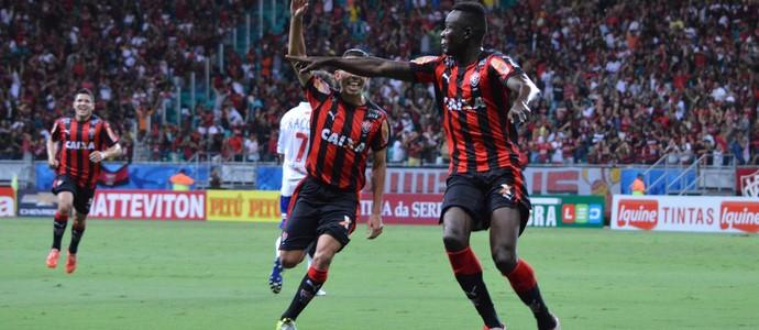 Kanu gol do Vitória contra o Paraná (Foto  Francisco Galvão   Divulgação    E.C. 5ccb7a12d2b33