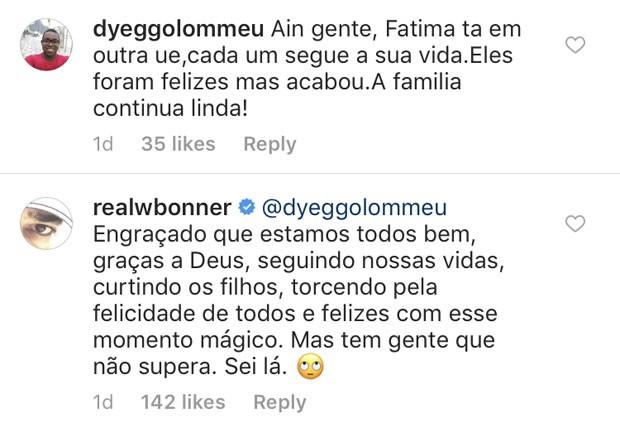 William Bonner respondeu a comentários na web (Foto: Reprodução Instagram)