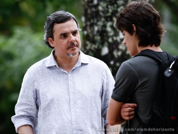 Líder se assusta ao ouvir o nome de Lili (Foto: Inácio Moraes/TV Globo)