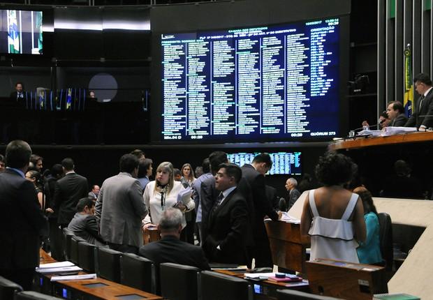 Sessão extraordinária da Câmara dos Deputados termina com parlamentares assistindo ao depoimento de Lula (Foto: Luis Macedo/Câmara dos Deputados)