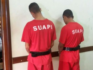 suspeitos presos 2 (Foto: Janaína Gonçalves/ Inter TV dos Vales)