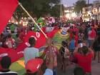 Manifestação em Caruaru diz 'não ao golpe' e apoia Dilma Rousseff e Lula