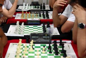 Rafael Leitão ficou com o título do Aberto do Brasil Contaud de Xadrez (Foto: Aline Camargo Caldas)