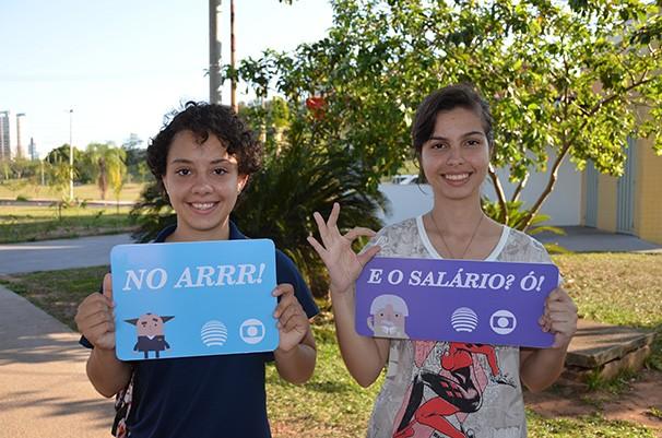 Rafaela Rosa e Sarah Borges  (Foto: Marketing TV Fronteira)