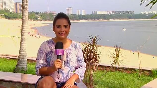 Ruthiene Binda, na praia da Ponta Negra, em Manaus (Foto: Amazônia Revista,)