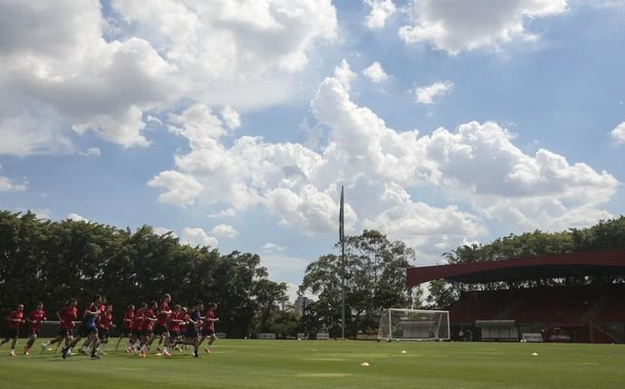 Seleção dos Estados Unidos treina no CT do São Paulo (Foto: Miguel Schincariol / saopaulofc.net)