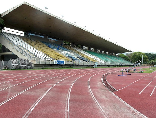 Estádio Célio de Barros complexo Maracanã obras Copa (Foto: Domingos Peixoto / Globoesporte.com)
