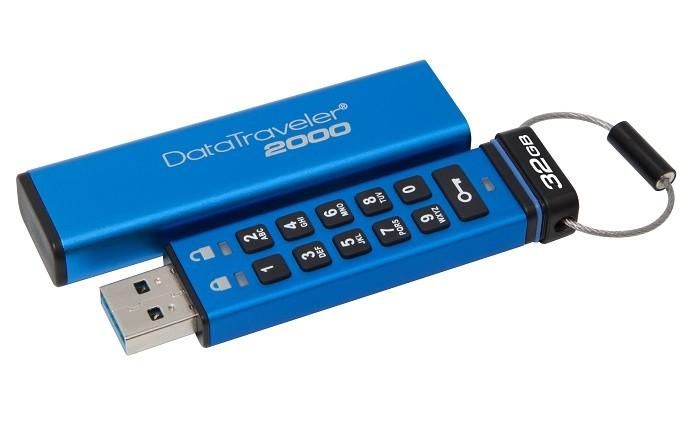 Data Traveler 2000 vem com um teclado numérico e criptografia (Foto: Divulgação/Kingston)
