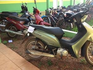 Motocicletas recuperadas  (Foto: Leile Ribeiro/G1)