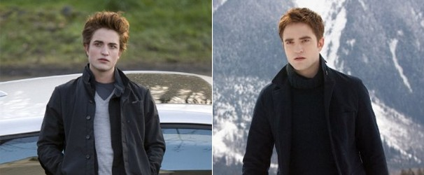 Patting no primeiro filme da franquia, 'Crepúsculo' (2008), e no último, 'A Saga Crepúsculo: Amanhecer - Parte 2' (2012) (Foto: Divulgação/Reprodução)