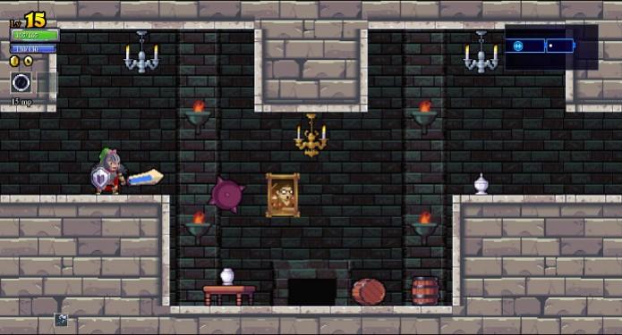 Cenário 2D de Rogue Legacy (Foto: Reprodução / João Moura) (Foto: Cenário 2D de Rogue Legacy (Foto: Reprodução / João Moura))
