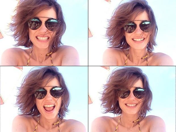 Rosanne Mulholland curte o verão carioca, faz várias selfies e não deixa de cuidar da pele (Foto: Arquivo Pessoal)
