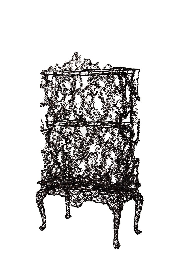 Tuomas Markunpoika (Finnish, active Netherlands, b. 1982); Cabinet, from Engineering Temporality series, 2012; Welded and burned steel rings; 175 × 95 × 50 cm (5 ft. 8 7/8 in. × 37 3/8 in. × 19 11/16 in.) (Foto: © Tuomas Markunpoika)