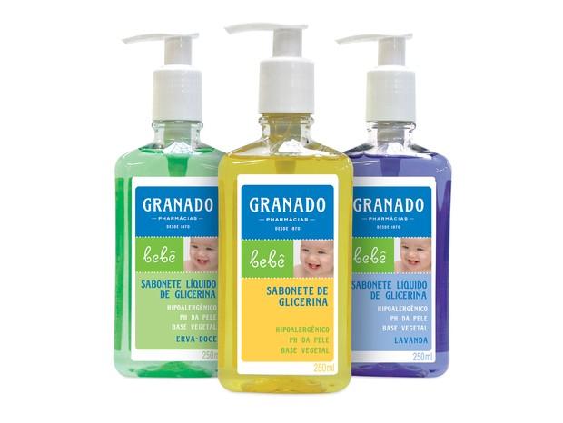 Sabonete Líquido de Glicerina: higieniza e protege a pele do bebê (Foto: Divulgação)