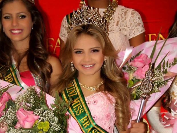 Ana Clara Ferrares foi eleita Mini Miss Brasil Oficial 2013 (Foto: Arquivo Pessoal)