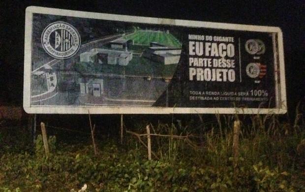 ASA faz campanha para o jogo contra o Flamengo (Foto: Divulgação/ASA)