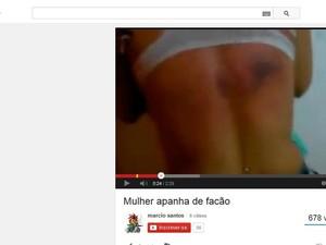 Vídeo com agressões foi publicado no Youtube (Foto: Reprodução/ Youtube)