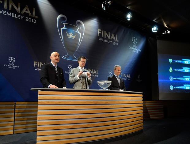 sorteio liga dos campeões (Foto: Agência Getty Images)