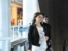Sophie Charlotte e outras famosos embarcam em aeroporto do Rio