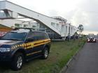 Polícia Rodoviária libera Dutra no Vale após tráfego de mega carreta