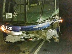 Acidente ocorreu na madrugada deste sábado (24) (Foto: Ronildo Brito/Teixeira News)