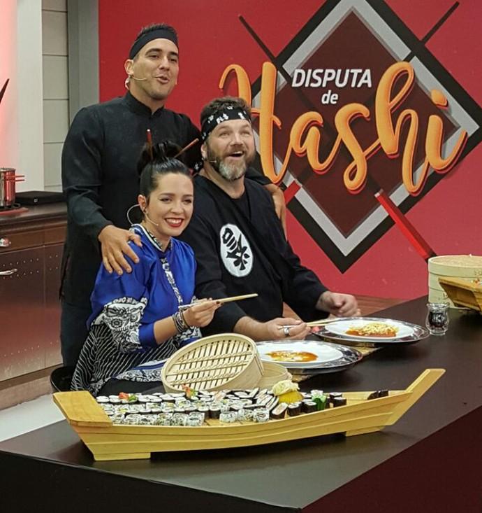 Nadia  Bochi vence o desafio do hashi! (Foto: Ivo Madoglio/TV Globo)