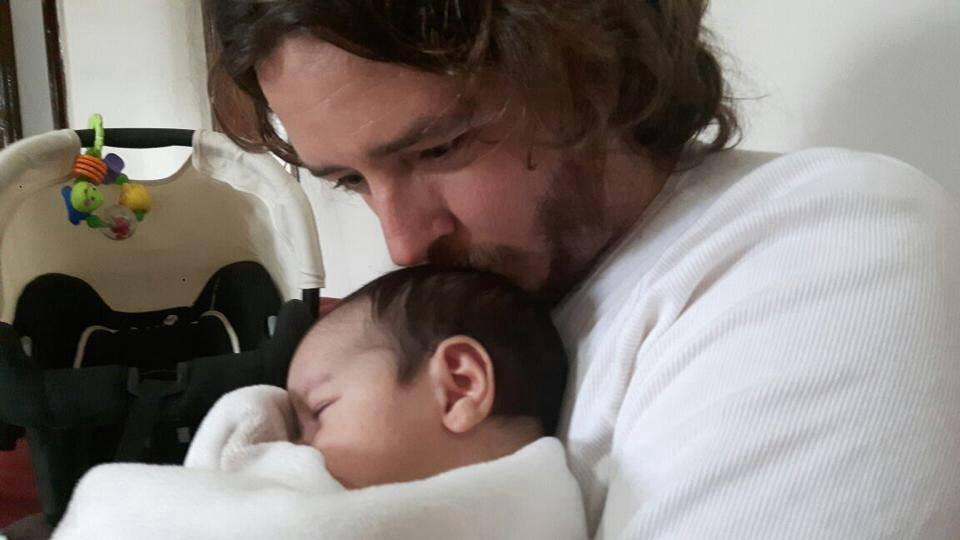 William e seu filho, Lorenzo (Foto: Arquivo pessoal)