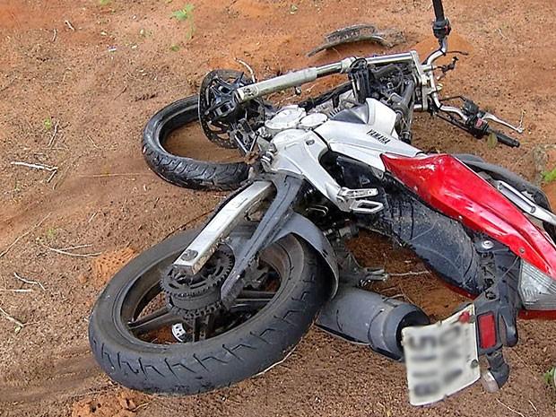 Motociclista morreu no local (Foto: Reprodução/Inter TV Cabugi)