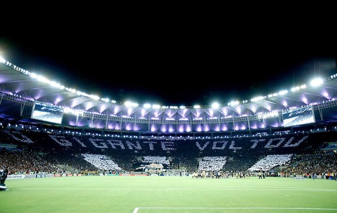 torcida Botafogo mosaico Maracanã (Foto: Alexandre Cassiano / Agência O Globo)