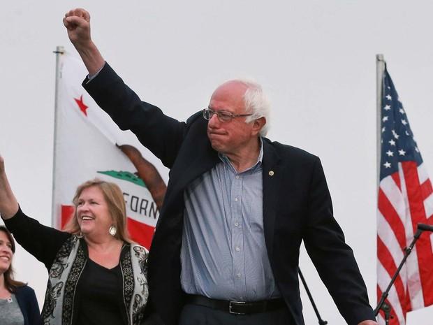 Bernie Sanders em São Francisco, Califórnia (Foto: REUTERS/Elijah Nouvelage)