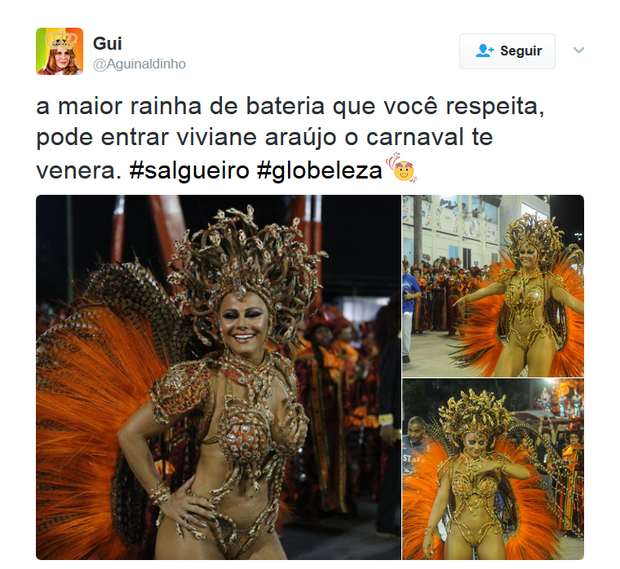 Comentários sobre Viviane Araújo (Foto: Reprodução)