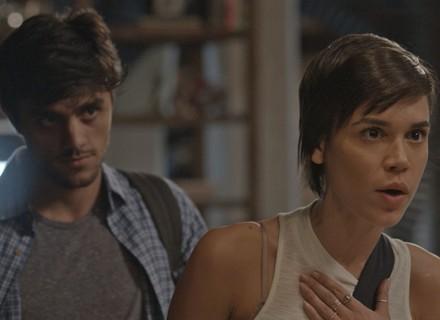 Jonatas e Leila procuram Rafael para saber a verdade sobre fotos com Eliza