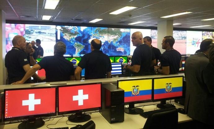 policiais estrangeiros segurança Copa do Mundo (Foto: Vianey Bentes / TV Globo)