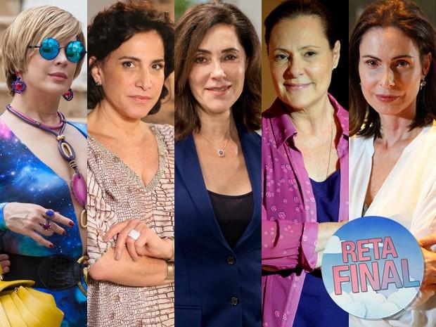 Samantha, Adriana, Maria Inês, Úrsula e Tina são possíveis mães de Laura (Foto: Fabiano Battaglin, Carol Caminha e Pedro Curi/ Gshow e Alex Carvalho/ Globo)