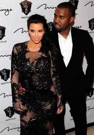 Kim Kardashian e kanye West (Foto: Steven Lawton/Agência Getty)