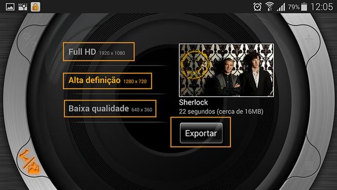 Escolha a qualidade para exportar seu videoclipe (Foto: Reprodução/Barbara Mannara)