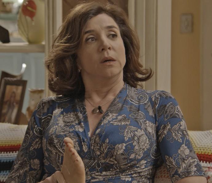 A feirante diz que se não fosse o publicitário, Tancinha teria ido para a delegacia (Foto: TV Globo)