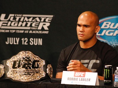 Robbie Lawler coletiva UFC 189 (Foto: Evelyn Rodrigues)