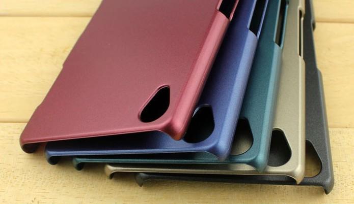 Capa com design mais discreto com cor lisa para Xperia Z3 (Foto: Divulgação/Pudini)
