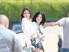 Após polêmica, Kylie e Kendall Jenner fotografam em praia de Malibu